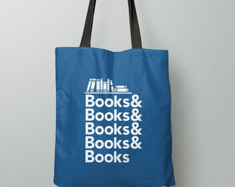 Book Tote Bag, Literary Gifts For Readers, Reading Gift For Book Lovers, Book Gift For Bookworm, Nerd Gift For Her, Library Bag For Teacher