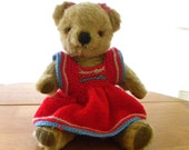 "Merrythought Bear 12"" -  Vintage Mohair Bear - 1970's Teddy Bear - Merrythought Label"