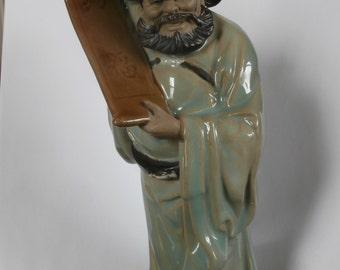 Mud Men Figurine With Scroll