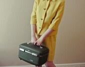 CLEARANCE Vintage M/L Mustard Tweed Blazer Jacket/Skirt 2 piece