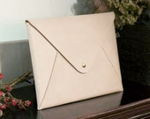 Leather Envelope MacBook 12 inch Sleeve / Case / Clutch, Personalized Hand Stitched by HarLex
