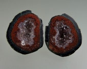 Tobasco (Illianita) Geode 100% Natural Hand Cut Cabochon Pair from 49erMinerals Stock C1472, free U.S. shipping
