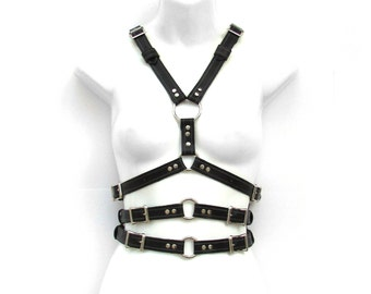 Leather Fashion Harness - TRIPLE AGENT