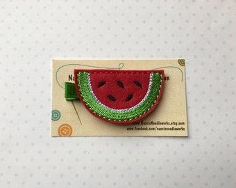 Watermelon Slice Hair Clip