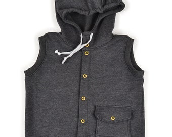 Hooded vest sewing pattern // pdf download // sizes preemie to 5-6T // photo tutorial included // #95
