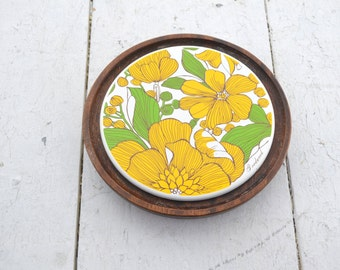 1970s Goodwood Small Round Cheese Board