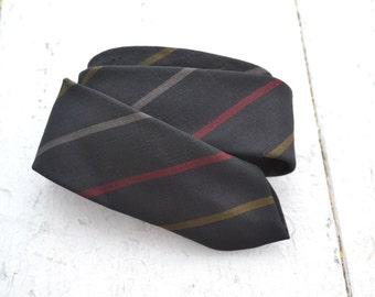 1950s Beau Brummel Striped Skinny Necktie