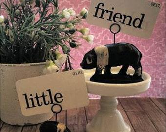 Pig photo holder,Auburn rubber antique toy,Hog place card holder,Animal business card holder,Spring decor flashcard art