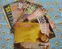 Vintage Knitting Patterns / 9 x Stitchcraft Magazines Booklets / 1960s 1970s / 1966 to 1978 / Sweaters Cardigans