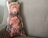Bear Pillow, Stuffed Bear, Animal Pillow, Gifts for Kids under 50, Modern Nursery Decor, Handmade bear pillow