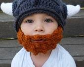 Viking beard Beanie Hat Cap- beard hat- viking beard You choose size and color