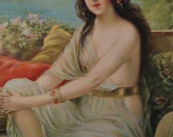 Mediterranean Woman Calendar Art Print