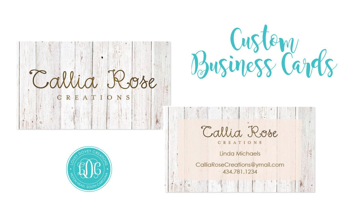 Custom business card etsy shop cards set of 100 rodan for Etsy shop business cards
