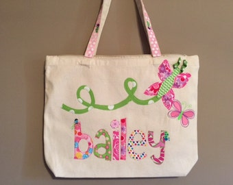 Large Canvas Zippered Tote Bag Add On