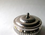 Vintage Sterling SilverPlated Tea Caddy -Tea Tin -Dresser Box