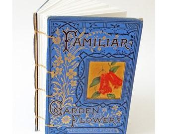 Flower Notebook, Gardening Notebook, Garden journal, Gardener's journal, Spring notebook, eco friendly keepsake journal, recycled notebook