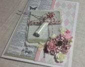 Handmade Card, Love Card, Glitter Vial Card, Handmade Card, Wedding Card,  3D Card, Happy Valentines Day Card, Gift Card, Greeting Card
