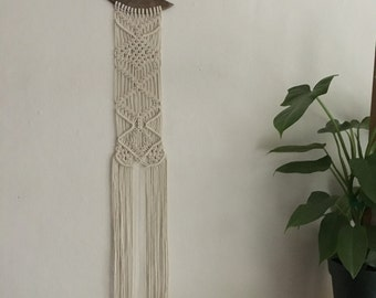 Crescent Moon Macramé Wall Hanging