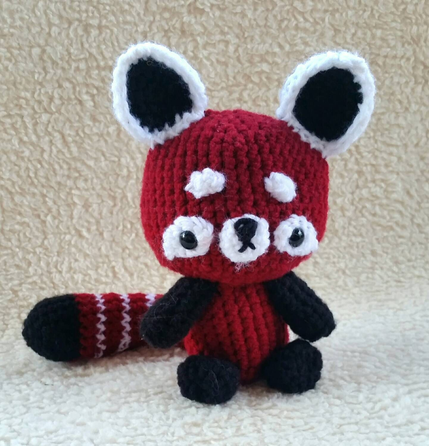 Amigurumi Red Panda : Red Panda Amigurumi Plush Cute Crochet Baby Animal Doll