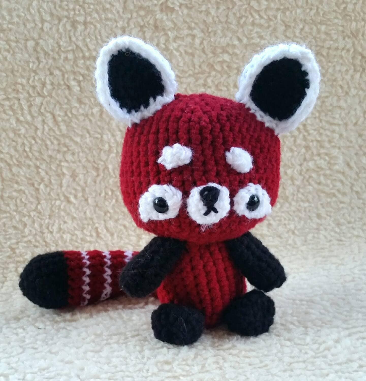 Kawaii Panda Amigurumi : Red Panda Amigurumi Plush Cute Crochet Baby Animal Doll