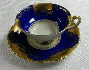 Alka Kunst Tea Cup and Saucer; Western Germany; US Zone; Footed  circa 1941-1945-   969