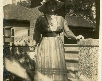 "Vintage Photo ""Anna"" Snapshot Photo Old Antique Photo Black & White Photograph Found Photo Paper Ephemera Vernacular - 187"