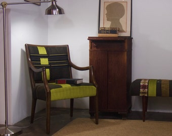 Armchair with Tailored Ribbon Pattern