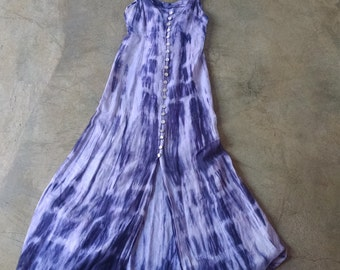 Vintage Tie Dye Dress Boho Hippie Beachy Resort Dress