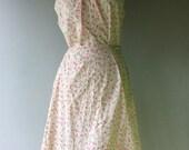 Handmade Cotton PRAIRIE  Dress // Size Xl