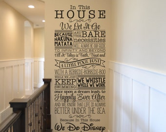 we do disney disney wall decal quote wall decal vinyl wall sticker home decor walt - Home Wall Decor