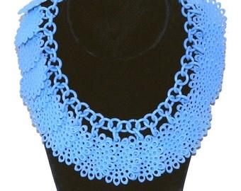 Vintage 1930's Blue Celluloid Necklace