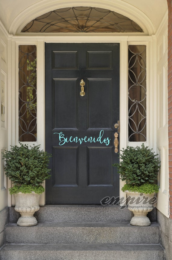Welcome decal, hello decal, namaste decal, bienvenidos, hola, benvenuti, welcome door decals