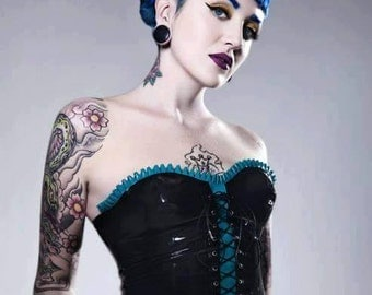 Latex Top, Latex Over Bust Corset Top