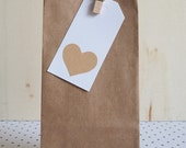 Paper bags 25 mini / brown Kraft flat bottom paper bags / gift bag / wedding favour bags / party bags
