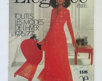 Vintage French Fashion Magazine 1970s