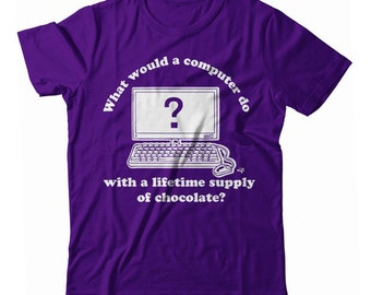 Willy Wonka and the Lifetime Supply of Chocolate Computer UNISEX T-shirt