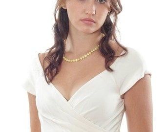 Pale Yellow Velvet Bridal Belt with Rhinestone Band / Sash Bridal Accessory Bridesmaid Vintage Ready To Ship - 100002