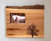 Walnut Frame, Tree Frame, Wedding Gift, One of a Kind, Rustic Frame, Valentine's Day Gift