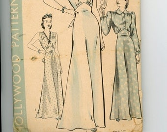Jane Wyman in Tugboat Annie Sails Again 1940 Evening Gown, Lingerie or Nightdress Hollywood Sewing Pattern 544 Size 34 Bust, 37 Hip
