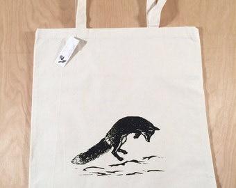Jumping Fox Tote Bag Black