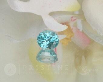 Blue Zircon December Birthstone Loose Gemstone Over 4 Carats