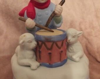 Little Drummer Boy Figurine Music Box - 1982 Mann Music Box