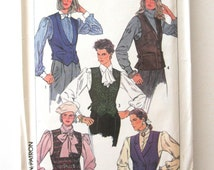 1980s Vest Pattern Simplicity 7612 Womens Single or Double Breasted Vest, Fitted, Lined, Unlined, Tuxedo Vest Sewing Pattern Size 12 Bust 34