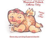 SALE!! Coffee Fairy Laminated Brooch, Fun Gift for the Caffeine Addicted!