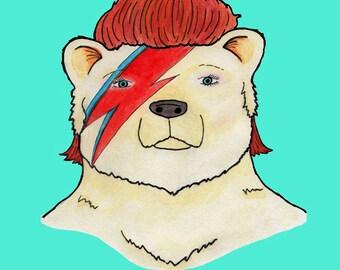 Bowie Bear Print