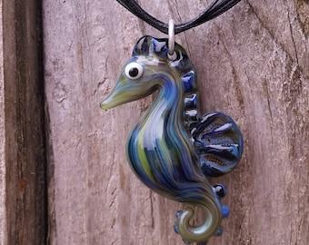 Glass Seahorse Pendant
