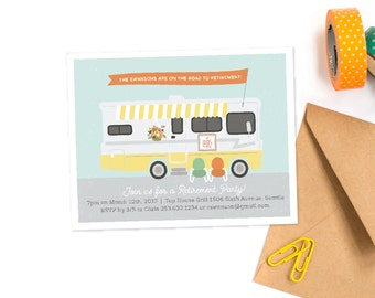 Retirement Party INVITATION PRINTABLE Motorhome travel by Itsy Belle Item129162