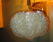 Vintage Crystal Evening Bag By Safco / 50s Dressy Handbag Dangling Crystals