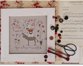 I Musicanti di Brema : Madame Chantilly Bremen Town Musicians dog cat donkey chicken counted cross stitch patterns fairy tale Bros Grimm