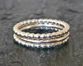 Sterling silver thumb ring, women's silver stackable ring, SET of three stacking silver rings, women's jewelry